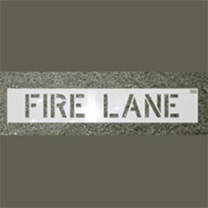Fire Lane Painting Stencil