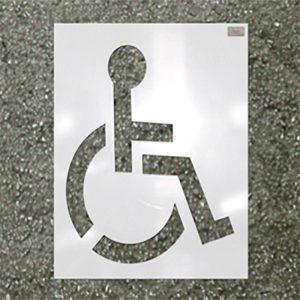 Asphalt Marking Handicap Stencil