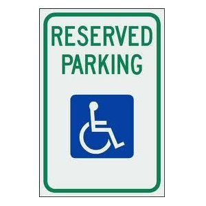 Parking Lot Handicap Sign