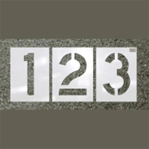 12 Piece Number Stencil Kit