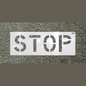 Stop Roadway Marking Stencil