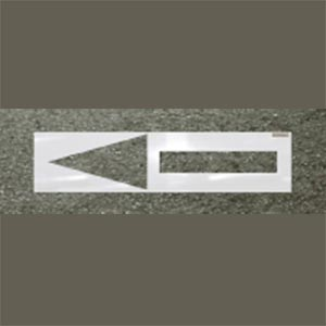 Straight Arrow Roadway Stencil