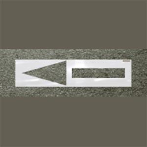 Straight Arrow Roadway Stencil