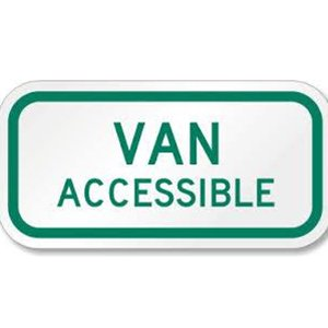 Van Accessible Roadway Sign